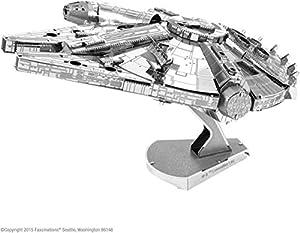 Metal Earth-5061302-Maqueta 3D-Iconx-Star Wars-Millennium Falcon-10,8x 7,6x 6,99cm-2Piezas
