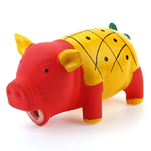 chiwava-63-squeak-latex-dog-toy-fruit-pig-grunting-animal-sound-chew-puppy-interactive-play-color-ye