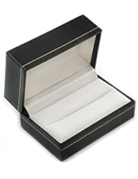 Black Leatherette One & Two Rings Box