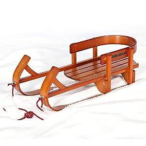 ZHAOK Schneeschlitten Kinder-Ski-Schlitten, Eisauto Schlitten aus massivem Holz, Snowboard-Geschenk für Kinder und Erwachsene für Winter-Outdoor Fun