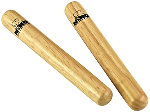 Nino NINO502 Paire de Claves en bois Taille S Beige