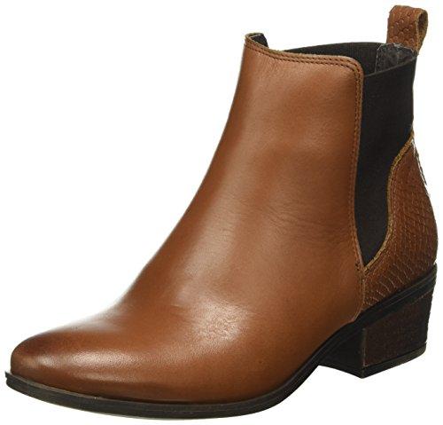 Pieces Psbecca Leather New Boot Cognac, Bottes Chelsea Femme Marron (Cognac)