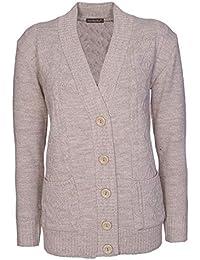 2e8858c6df Lets Shop Shop New Classic Womens Cardigan Ladies Sizes 10-20 Cable Knit  Long Sleeve