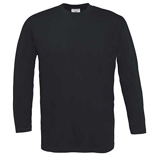 B&C Collection Exact 150 Long Sleeve T-Shirt Black*