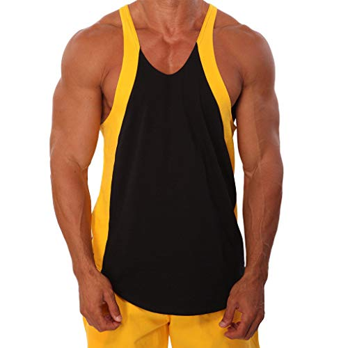 Big And Tall Mesh Polo Shirt (Strungten Herren Tanktop Basic Unifarben Tank Top Tankshirt T-Shirt Trainingsshirt Unterhemden Ärmellos Muskelshirt Herren Bodybuilding Tank Top Fitness Sportshirt estreifte gedruckte Sportweste)