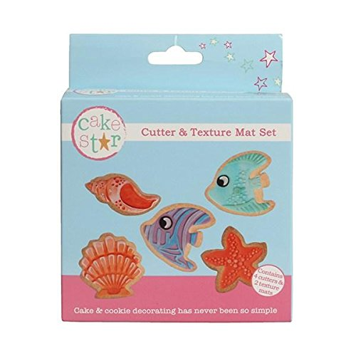 Cake Star Cutter and Texture Mat Set - Under The Sea