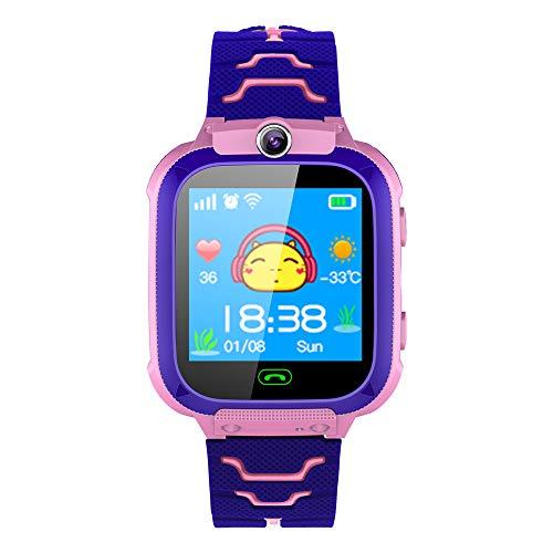 Preisvergleich Produktbild 88AMZ Kinder-Smartwatch mit Herzfrequenz-Überwachung,  Fitness-Tracker,  GPS-Tracker,  1, 44 Zoll Touchscreen 400mAH Smart ArmbanduhrFreisprechen SchrittzählerJungen Mädchen Geburtstagsgeschenke (Pink)