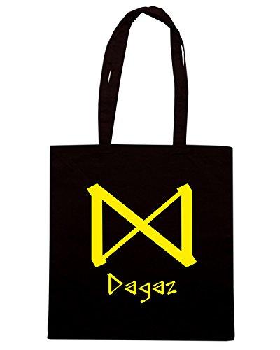 T-Shirtshock - Borsa Shopping T0299 dagaz religioni celtic Nero