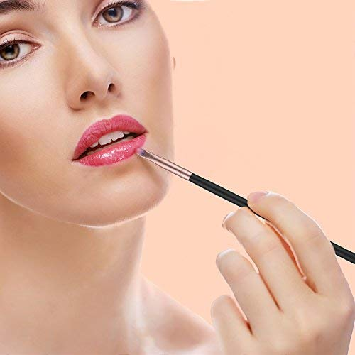 BESTOPE 18 Stück Pinselset Kosmetik Premium Kabuki Makeup Pinsel Set Schminkpinsel Set Synthetisches Haar Lippenpinsel Gesichtspinsel Set (Schwarz und Rose Gold)