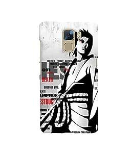Fuson 3D Printed Designer back case cover for Huawei Honor 7 - D4338