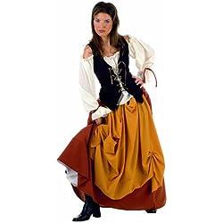 Traje de pirata para mujer, talla L.