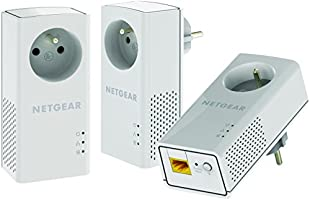 NETGEAR PLP1000T-100FRS Pack de 3 CPL 1000 Mbps dernière génération. Compatible avec toutes les box internet.