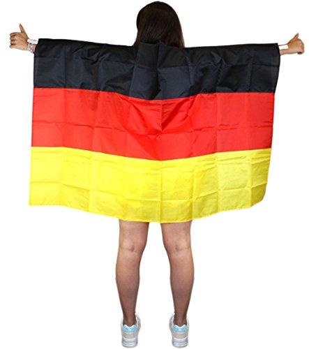 Sonia Originelli Fan Poncho Umhang Flagge Fußball WM Länder Cape Farbe Deutschland