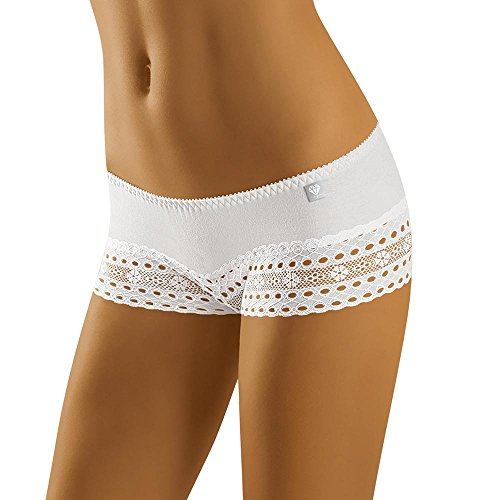 Wolbar Damen Shorts 3513 Limited Edition (Weiß, L) (Gute Womens Boxer)