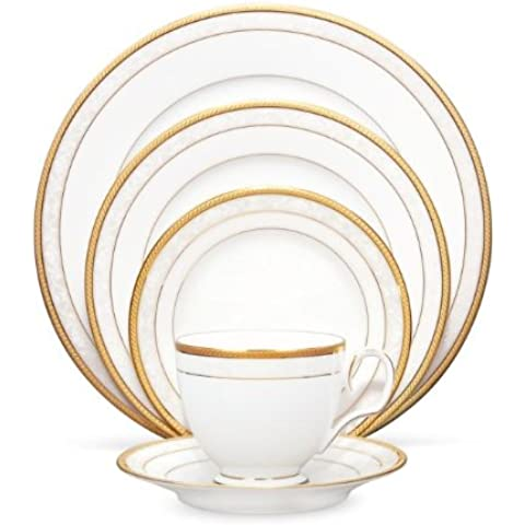 Noritake 5-Piece Hampshire Place Setting, Gold by Noritake