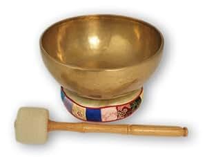 Klangschale Tibet mit Zubehör ca. 1500 Gramm -2026-L, für Klangschalenmassage, Entspannung hervorragend geeignet