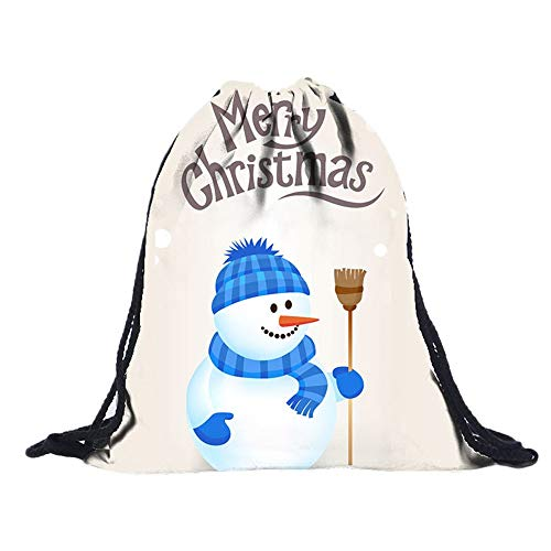 Non-Woven Taschen Kordelzug Frauen Tasche 3D Digital Print Bouquet Pocket Rucksack Sporttaschen Gym Sack Turnbeutel Sportbeutel Weihnachten Christmas Unisex Wasserdicht FüR Fitness(A,30cmx1cmx39cm) (Non Pc Kostüm)