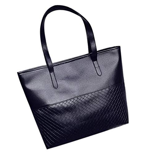 Lazzboy Handtasche Handtasche Frauen Schulter Satchel Große Messenger Bag (Schwarz)