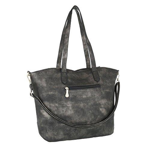 Taschen Handtasche Used Optik Grau