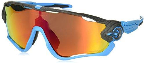 Oakley Herren Jawbreaker 929033 31 Sonnenbrille, Grau (Aero Grid Grey/Prizmruby),