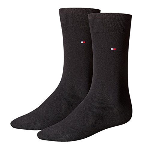 TOMMY HILFIGER Herren Classic Casual Business Socken 8er Pack  ( Black , 43-46 )