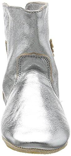 Easy Peasy Baby Mädchen Bobotte Uni Krabbelschuhe Silber (058 Silver)