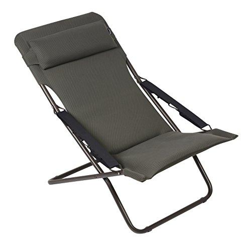 Preisvergleich Produktbild Lafuma Liegestuhl,  klappbar und verstellbar,  Transabed Air Comfort,  Taupe,  LFM2459-6895
