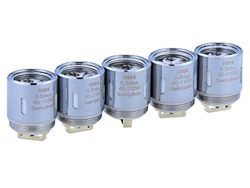 HW4 Verdampferköpfe mit 0,3 Ohm - für Ello/Ello Mini/Ello Mini XL Verdampfer - von SC - 5 Stück pro Packung