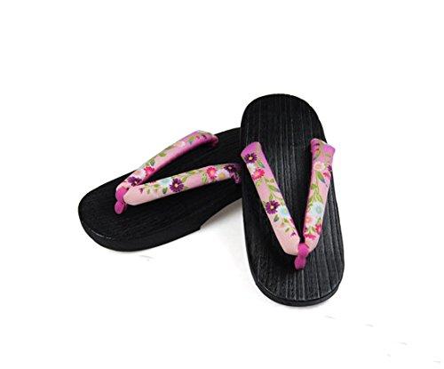 Nuoqi Donna Tradizionale giapponese zoccoli scarpe sandali Geta Accessori cosplay SEM65F