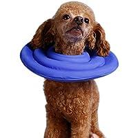 LA VIE Collar de Recuperaci¨n Acolchado para Mascota Collar Protector Ajustable y Ligero Pet Collar para Perro Gato Protecci¨n y Curaci¨n de Heridas M Azul