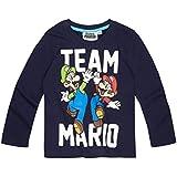 Super Mario Bros Chicos Camiseta mangas largas 2016 Collection - Azul marino