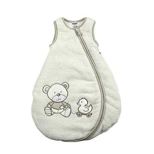 Jacky Baby Unisex Winter-Schlafsack, wattiert, Bear, Alter 0-2 Monate, Größe: 50/56, Farbe: Off White, 327106