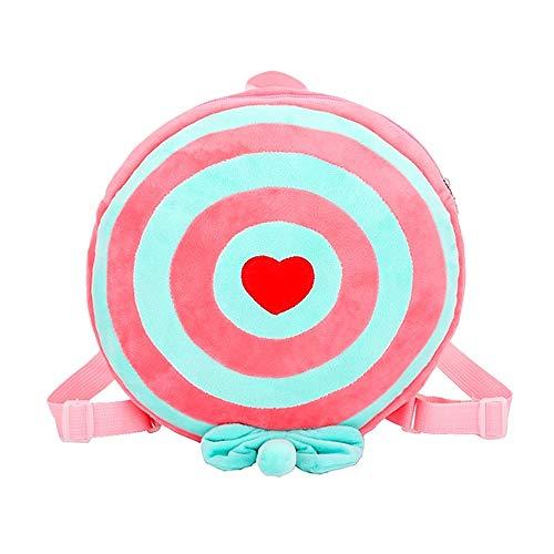 Skateboard-flanell (fhdc Rucksäcke Kindertaschen Süßigkeiten Rucksack Süße Kinder Schule Mädchen Junge Flanell Gestreifte TaschenRosa)