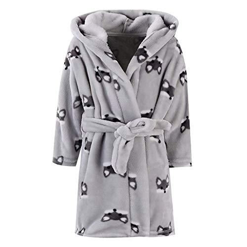nder Langarm Bademantel - Kinderbekleidung Home Service Bademantel - Kinder Jungen Mädchen Print Flanell Bademantel Hoodie Handtuch Pyjamas Nacht Nachtwäsche ()