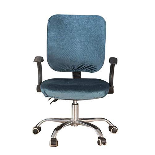 myonly Computer-Chefsessel-Überzug, Schonbezug für Bürotischstuhl, Stretch, drehbar, Reine Farbe, abnehmbar, Dehnbare Bezüge, Universal Sesselbezug (ohne Stuhl) blau