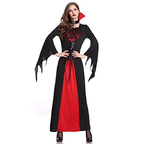 Damen Kostüm Halloween coustems Kürbis Hexe Cosplay Gast Ghost Schicke Party Halloween deko,ALISIAM Halloween Frauen kleiden weibliches Cosplay Rollenspiel Kostüm Kleid Ostern (Weibliche Dracula Kostüm)