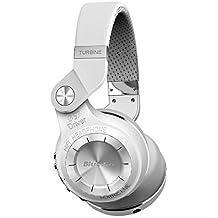 Bluedio T2 plus auriculares inalambricos bluetooth 4.1 con radio incorporada y ranura de tarjeta micro sd (Blanco)