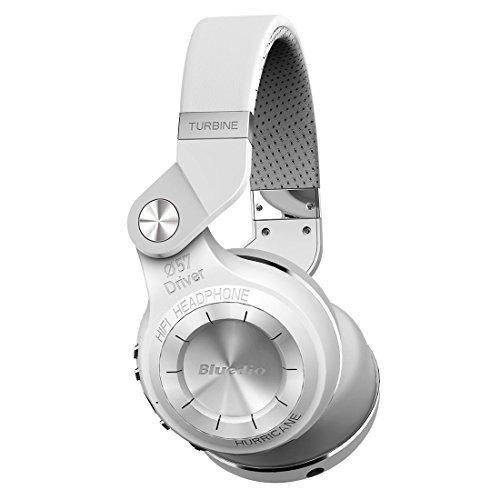 Bluedio T2 plus auriculares inalambricos bluetooth 4.1 con radio incorporada y micro sd (Blanco)