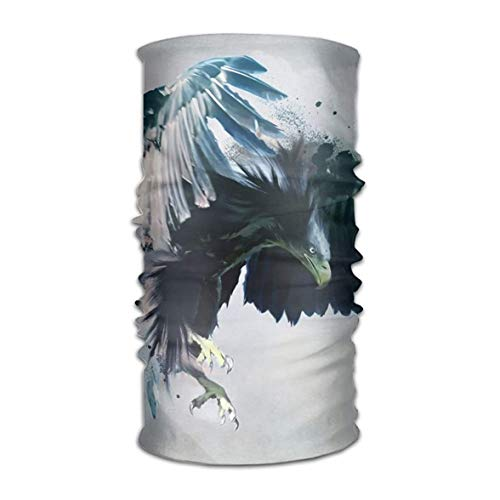 Angry Eagle with Big and Blue Wings Headwear Bandanas Seamless Men Women Headwear 12-in-1 Stretchable Magic Scarf - Blue Eagle Wings