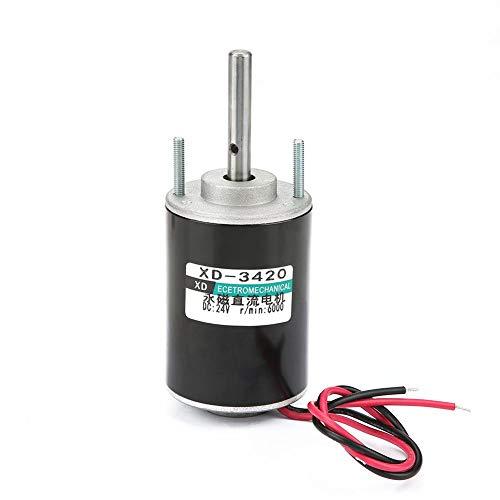 12 V / 24 V 30 Watt CW/CCW Elektrische Getriebemotor Gleichstrom Permanent Magnet DC Motor Reversible High Speed   Low Noise für DIY Generator XD-3420(24V)