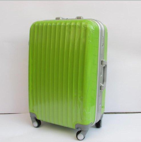 Xiuxiandianju 20 pollici 24 pollici 28 pollici ruota universale leva viaggio impermeabile ABS valigia bagaglio di viaggio Green