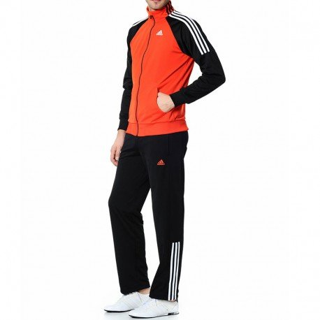 adidas Herren Trainingsanzug Trainingsanzug schwarz orange / schwarz Gr. 192 cm, orange / schwarz (Jersey Adidas Cap)