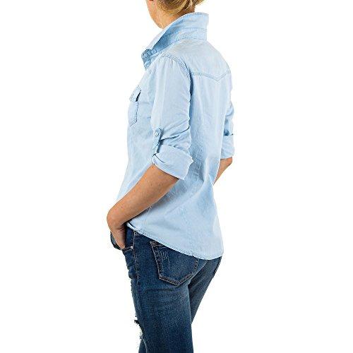 iTaL-dESiGn - Chemisier - Femme bleu clair