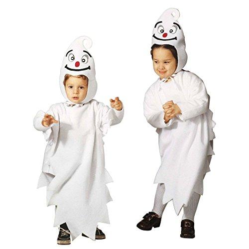 NET TOYS Niedliches Gespenst Kostüm Geist Kinderkostüm 110 cm Geisterkostüm Halloween Ghost Jumpsuit Horrorkostüm Kinder - Niedliches Gespenst Kostüm