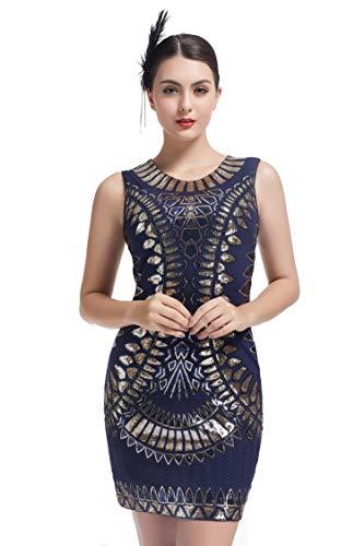 KILOLONE 1920 Flapper Kleid Mesh Patchwork Sexy rückenfreie Pailletten Fringe Perlen Kostüm Kleider Fringe Kleid