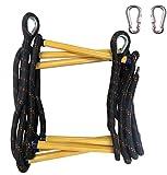 JHKJ Rettungsleiter, Strickleiter 4 m (13.1 Fuß) Flucht Strickleiter für Garten, Fitness Spielzeug, Hindernislauf-Training.