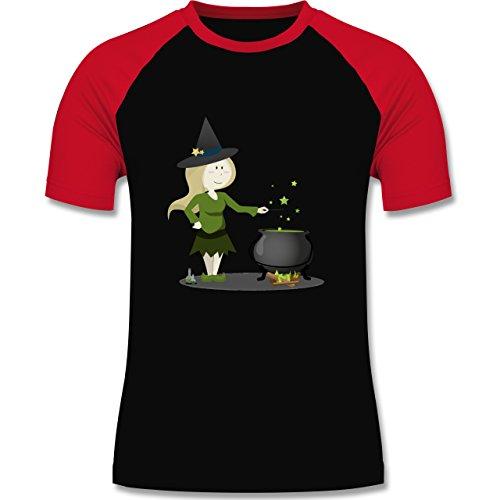 Halloween - Kleine Hexe - XL - Schwarz/Rot - L140 - Herren Baseball - Halloween-hexen-zauber Lustige