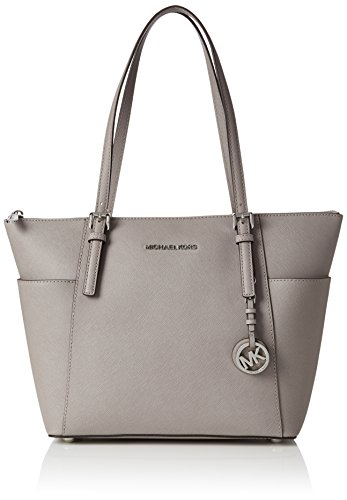 Michael Kors Damen Jet Set Item Shopper, Grau (Pearl Grey), 8.9x22.9x35.6 Centimeters - Kors Frauen Handtasche Michael