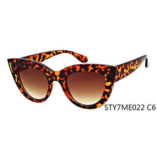 Taiyangcheng Gafas de sol Con ojo de gato Gafas de sol para Mujeres, para Mujer, para Mujer Sombras,C6