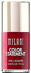 Milani Color Statement Nail Lacquer Polish, 43 Ruby Stone, .34 fl oz